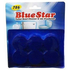 قرص خوشبو کننده توالت فرنگی بلو استار مدل plus01 بسته 6 عددی