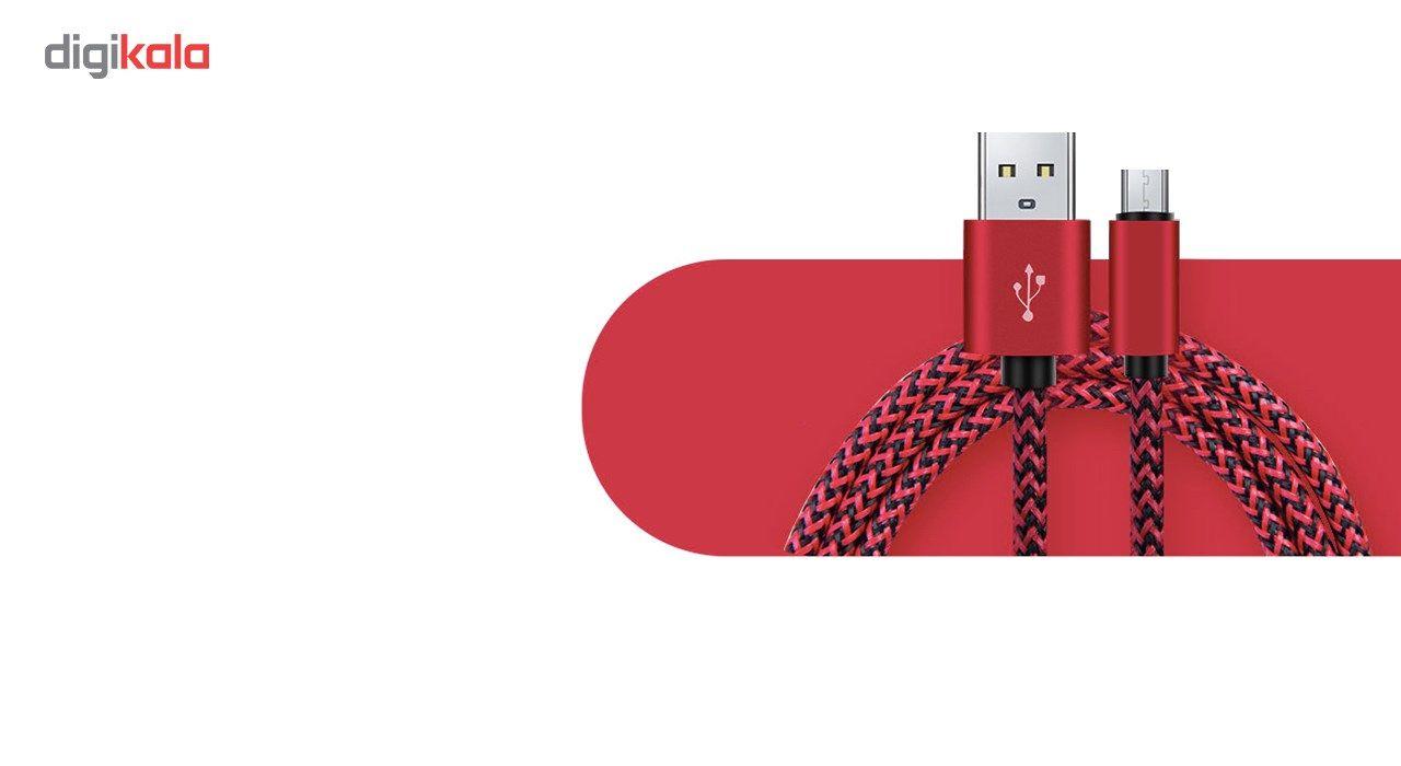 کابل تبدیل USB به MicroUSB مدل Nylon به طول 20 سانتی متر main 1 6
