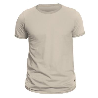 تصویر تیشرت آستین کوتاه مردانه کد D1WCRR رنگ کرم