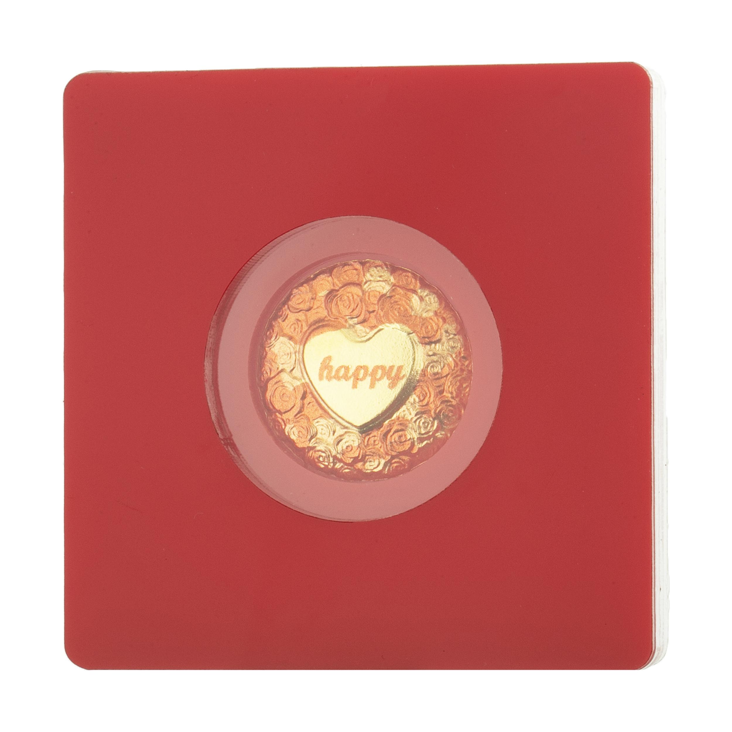 طلا گرمی 24 عیار پرنیا طرح قلب کد 003