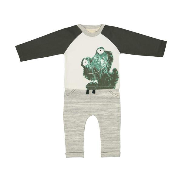 ست تی شرت و شلوار نوزادی رابو مدل 2051104-4690