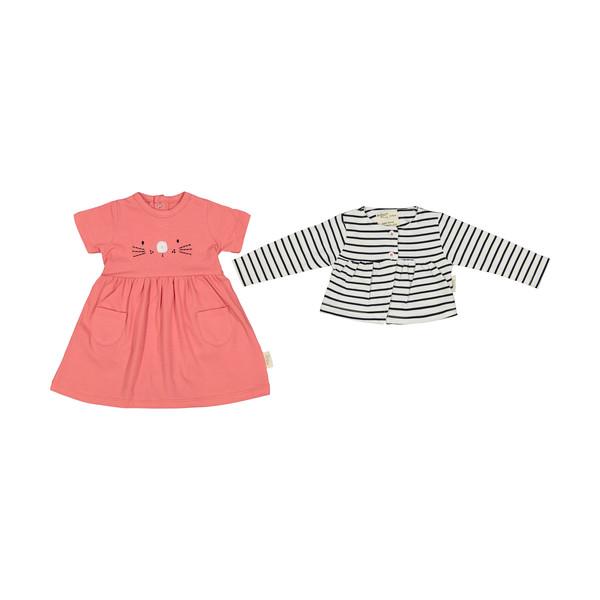 ست بادی و کت نوزادی دخترانه رابو مدل 2051115-0188