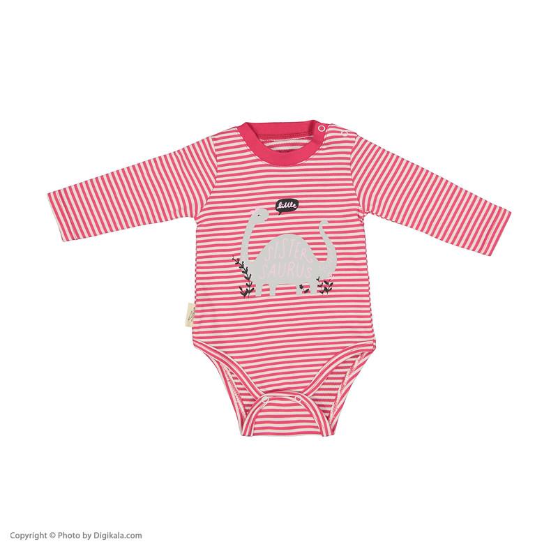 ست 3 تکه نوزادی دخترانه رابو مدل 2051107-9384