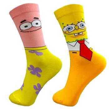 جوراب زنانه طرح باب اسفنجی و پاتریک