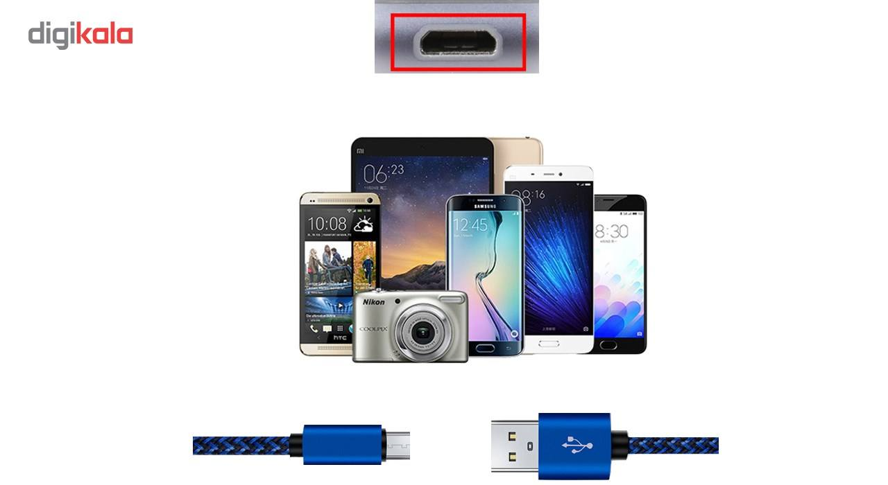 کابل تبدیل USB به MicroUSB مدل Nylon به طول 20 سانتی متر main 1 8