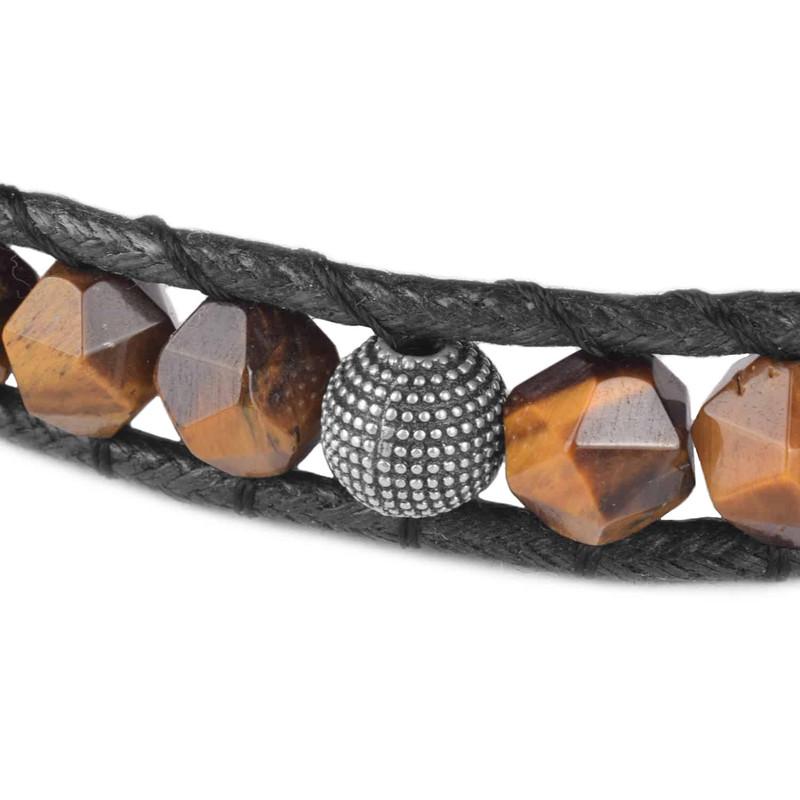دستبند نقره مردانه درگون جولری مدل WO1