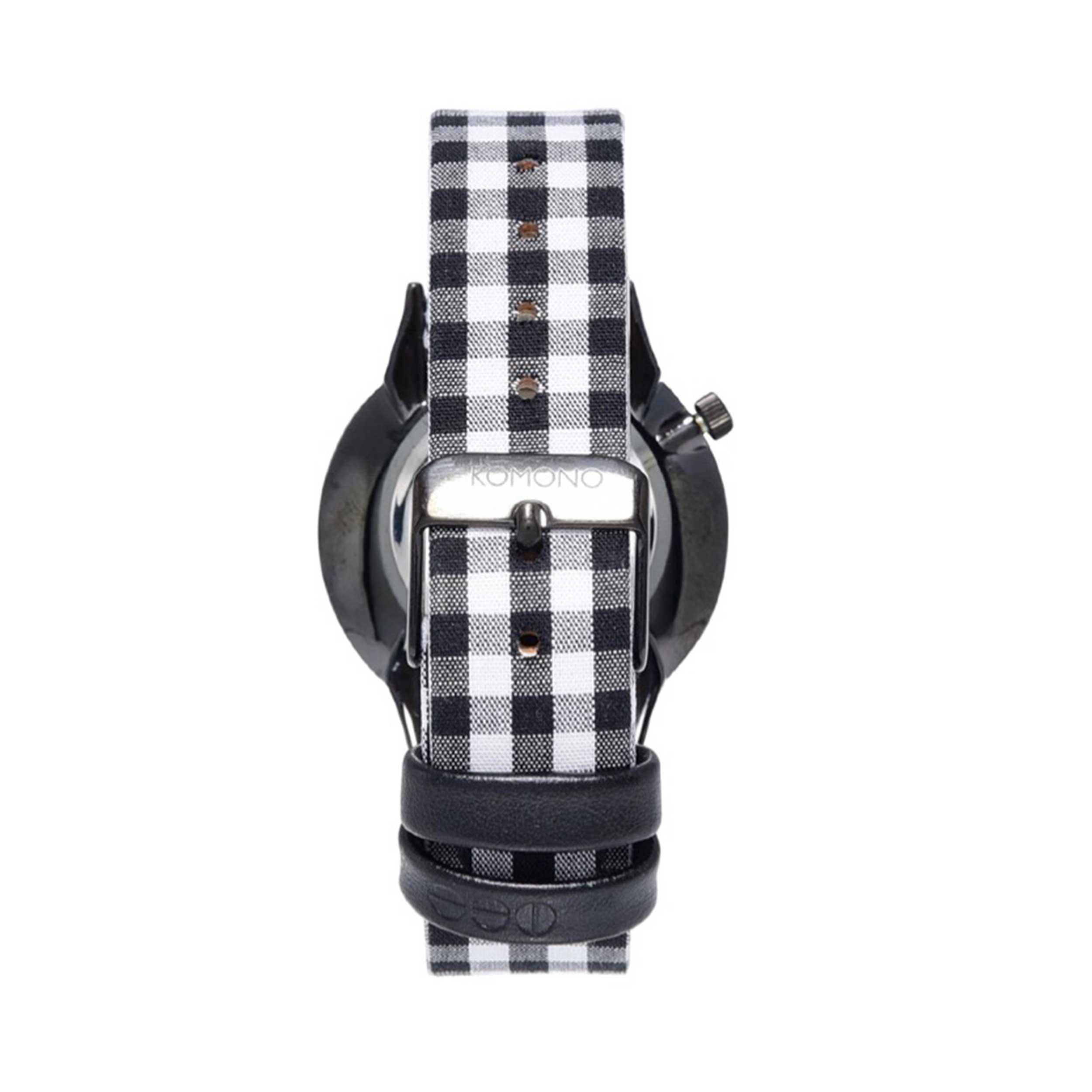 ساعت مچي عقربهای كومونو سری Estelle Vichy Black مدل KOM-W2853