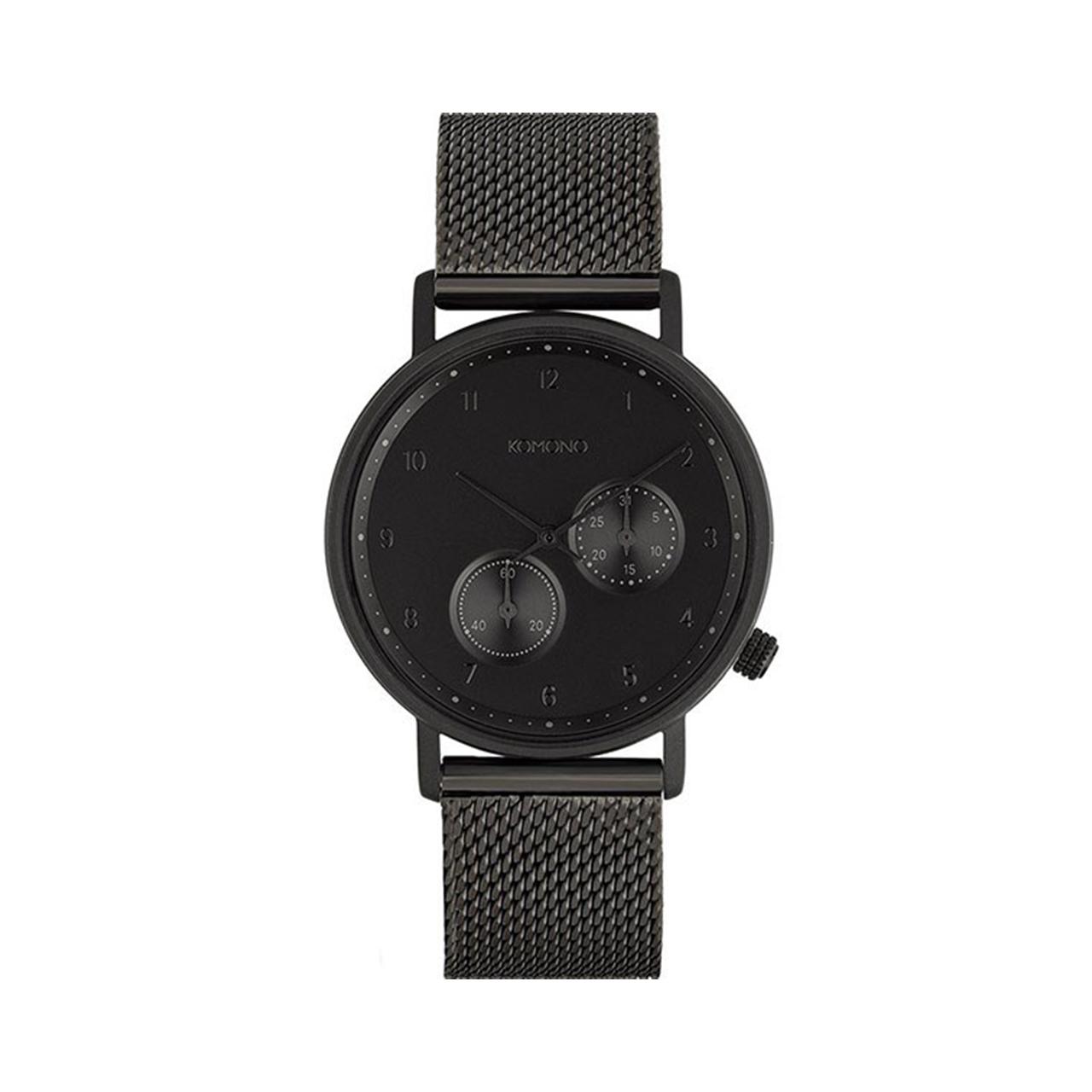 ساعت مچی عقربه ای کومونو مدل Walther Black Mesh