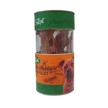 تشویقی سگ سویل پت مدل Natural Striped Chicken Fillet Snack وزن 75 گرم