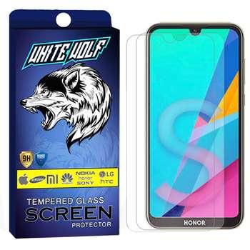محافظ صفحه نمایش وایت ولف مدل WGS مناسب برای گوشی موبایل آنر 8S بسته 2 عددی