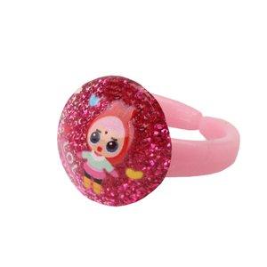 انگشتر دخترانه طرح ال او ال کد 001