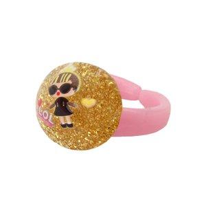 انگشتر دخترانه طرح ال او ال کد 003