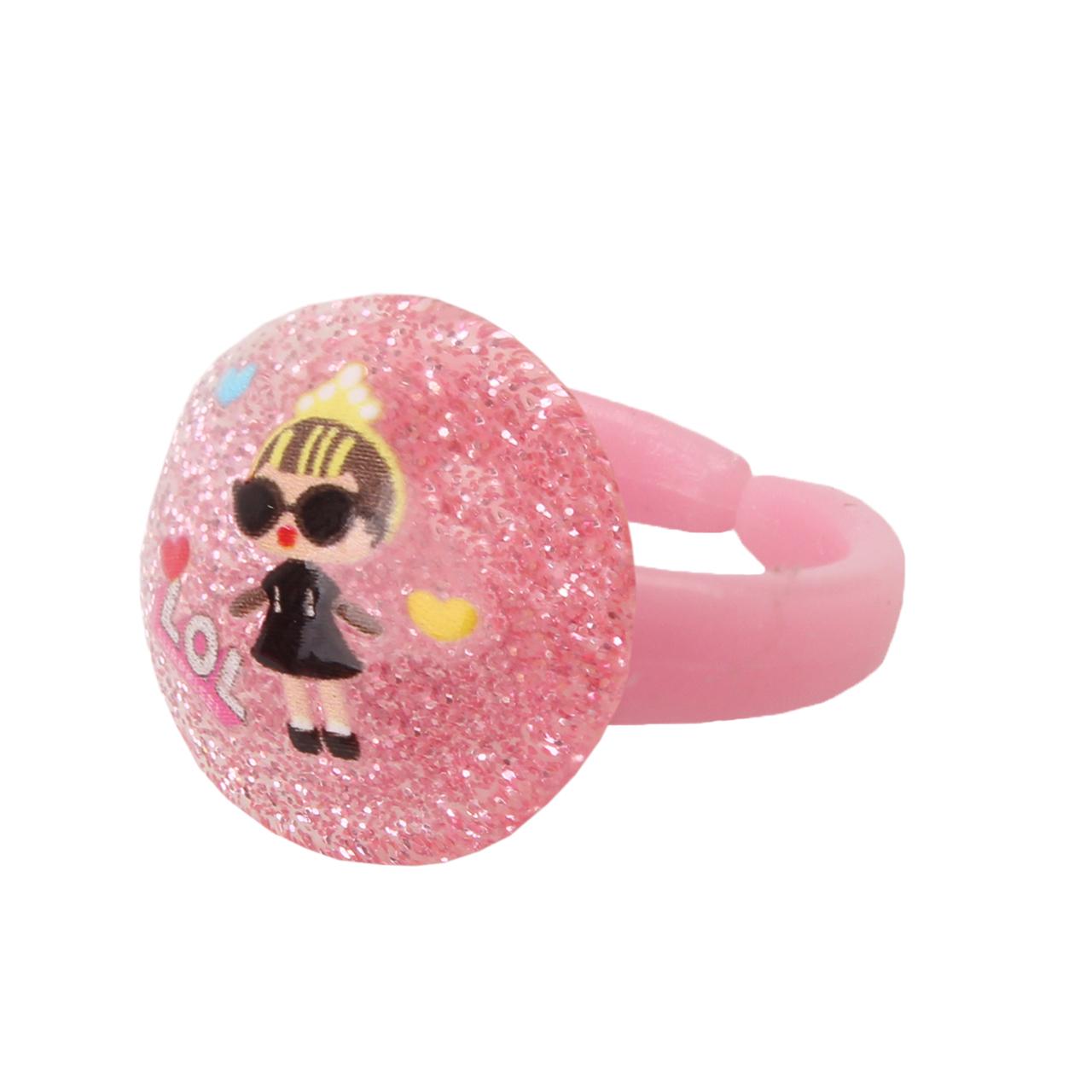 انگشتر دخترانه طرح ال او ال کد 004