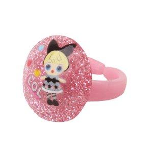 انگشتر دخترانه طرح ال او ال کد 006