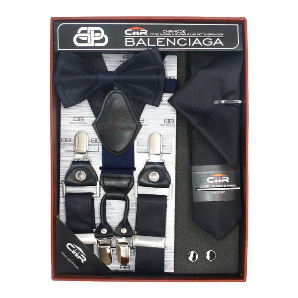 ست کراوات و پاپیون و ساسبند مردانه سی اچ آر  کد MH090