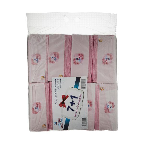 دستمال کاغذی 150 برگ ایزی پیک مدل Luxury بسته 8 عددی