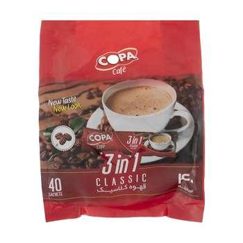 قهوه کلاسیک کوپا مدل 3in1 بسته 40 عددی