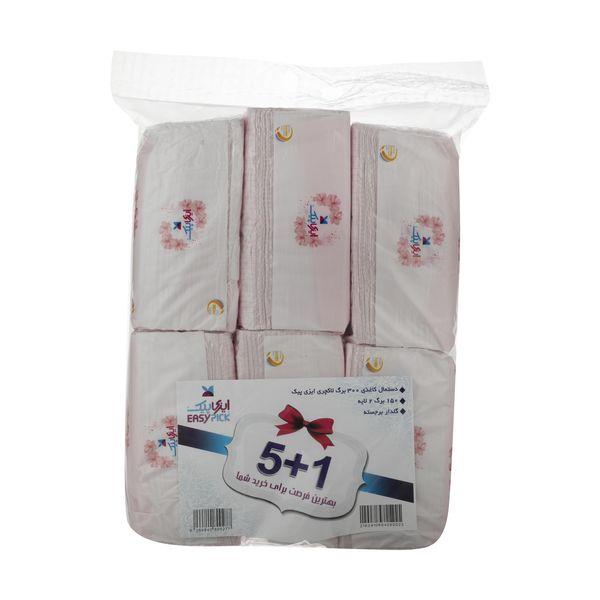 دستمال کاغذی 150 برگ ایزی پیک مدل Luxury بسته 6 عددی