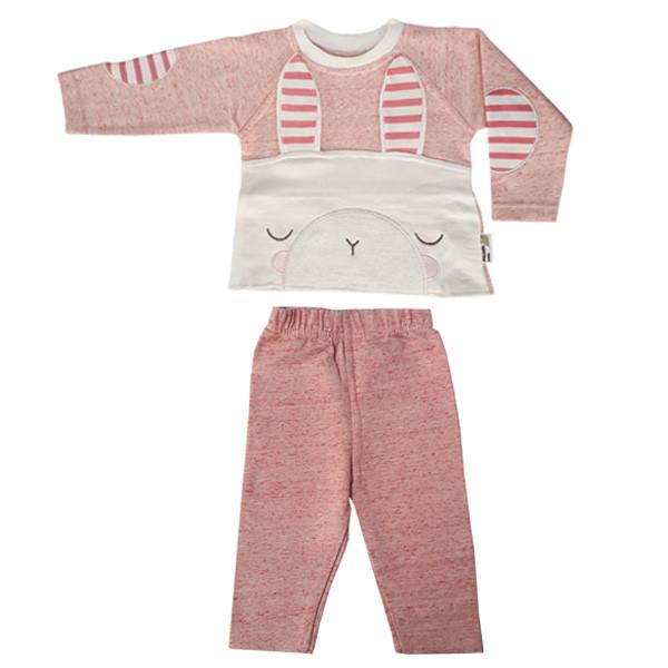 ست تی شرت آستین بلند و شلوار نوزادی پولونیکس طرح خرگوش کد 31902