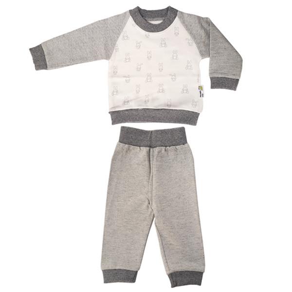 ست تی شرت آستین بلند و شلوار نوزادی پولونیکس طرح خرگوش کد 31904