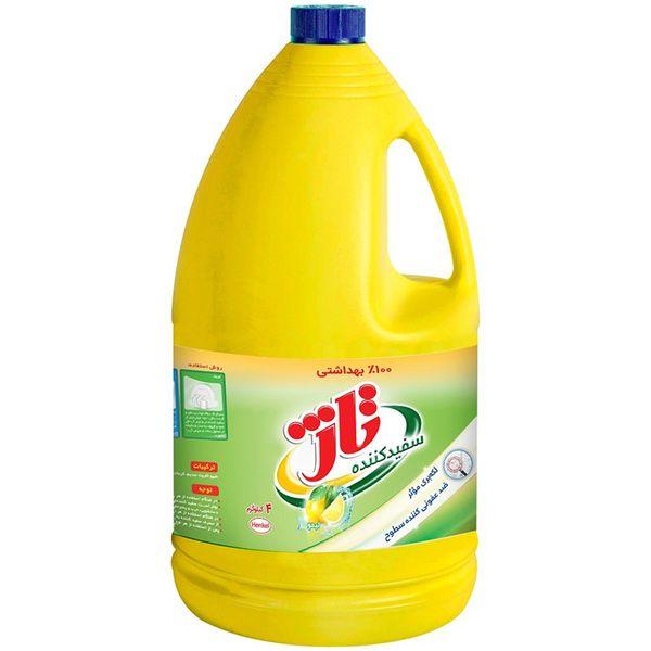 مایع سفید کننده تاژ با رایحه لیمو مقدار 4000 گرم