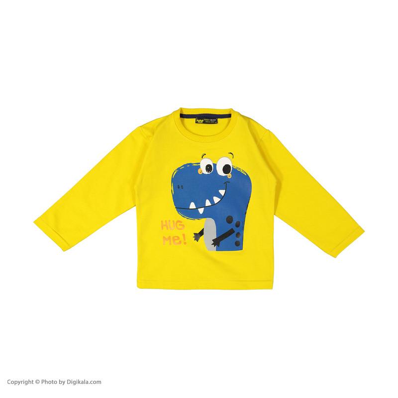 ست سویشرت و شلوار پسرانه خرس کوچولو مدل دایناسور کد 001