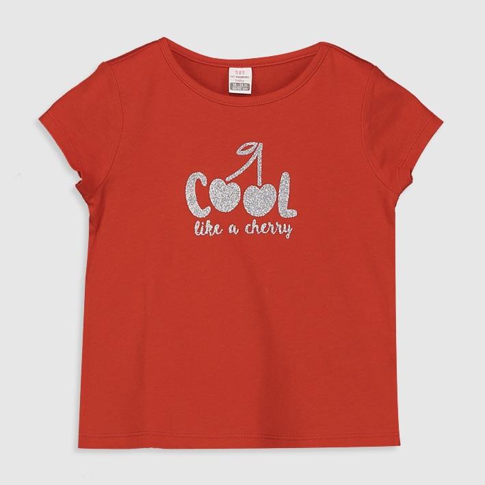 تی شرت دخترانه ال سی وایکیکی مدل 0S5256Z1 - HBH