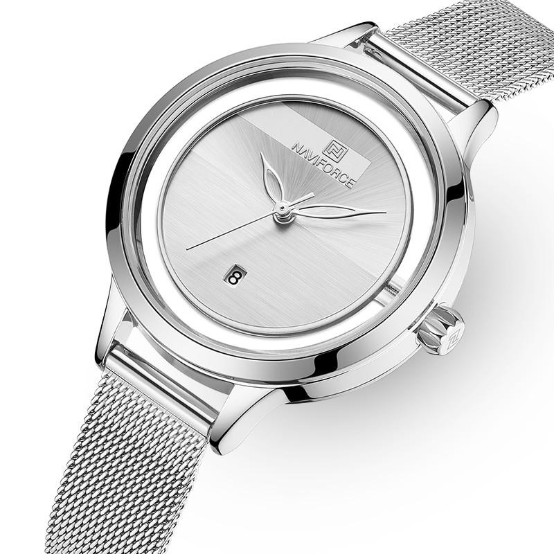 ساعت مچی عقربه ای زنانه نیوی فورس مدل NF5014L -S-W              ارزان