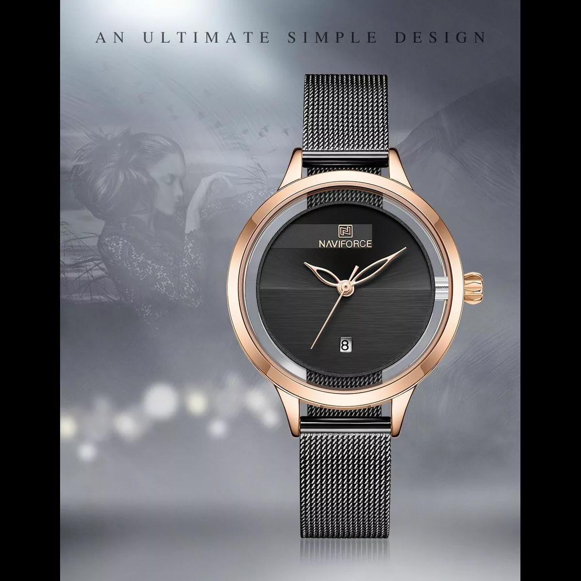 ساعت مچی عقربه ای زنانه نیوی فورس مدل NF501L -RG-B              ارزان