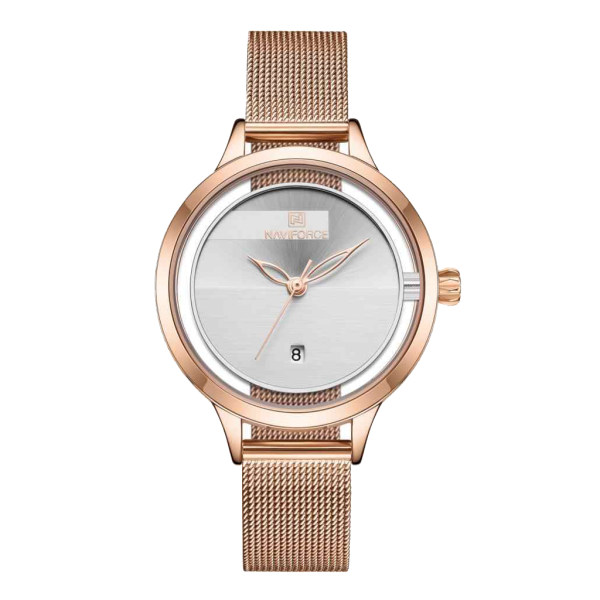 ساعت مچی عقربه ای زنانه نیوی فورس مدل NF5014L -RG-W