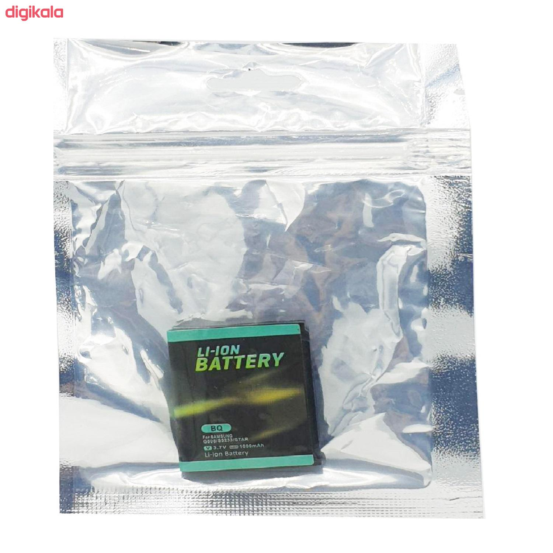 باتری موبایل مدل BQ ظرفیت 1000 میلی آمپر ساعت مناسب برای گوشی موبایل سامسونگ G808 main 1 3