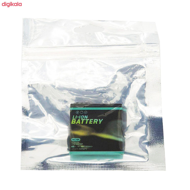 باتری موبایل مدل BL-6F ظرفیت 1100 میلی آمپر ساعت مناسب برای گوشی موبایل نوکیا N78 main 1 3