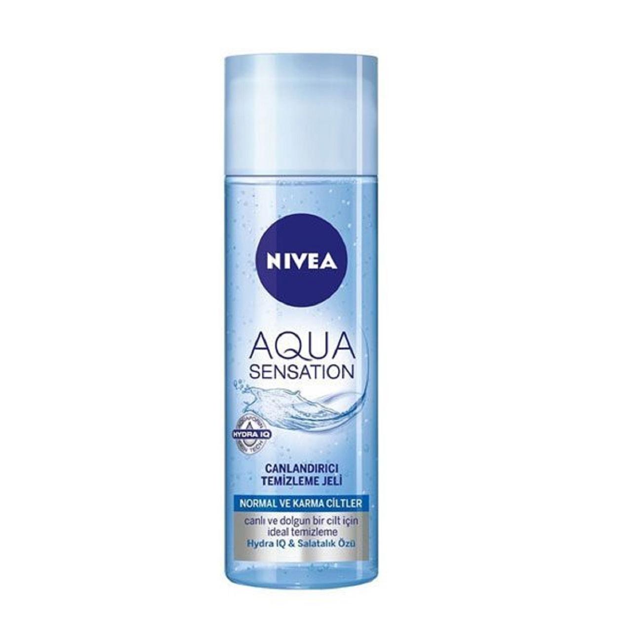 ژل پاک کننده آرایش صورت نیوآ مدل AQua sensation حجم 200 میلی لیتر