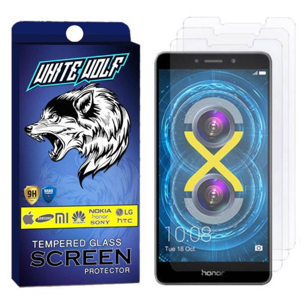 محافظ صفحه نمایش وایت ولف مدل WGS مناسب برای گوشی موبایل آنر 6X بسته 3 عددی