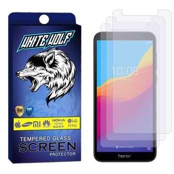 محافظ صفحه نمایش وایت ولف مدل WGS مناسب برای گوشی موبایل آنر 7S بسته 3 عددی