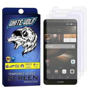 محافظ صفحه نمایش وایت ولف مدل WGS مناسب برای گوشی موبایل هوآوی Mate 7 بسته 3 عددی