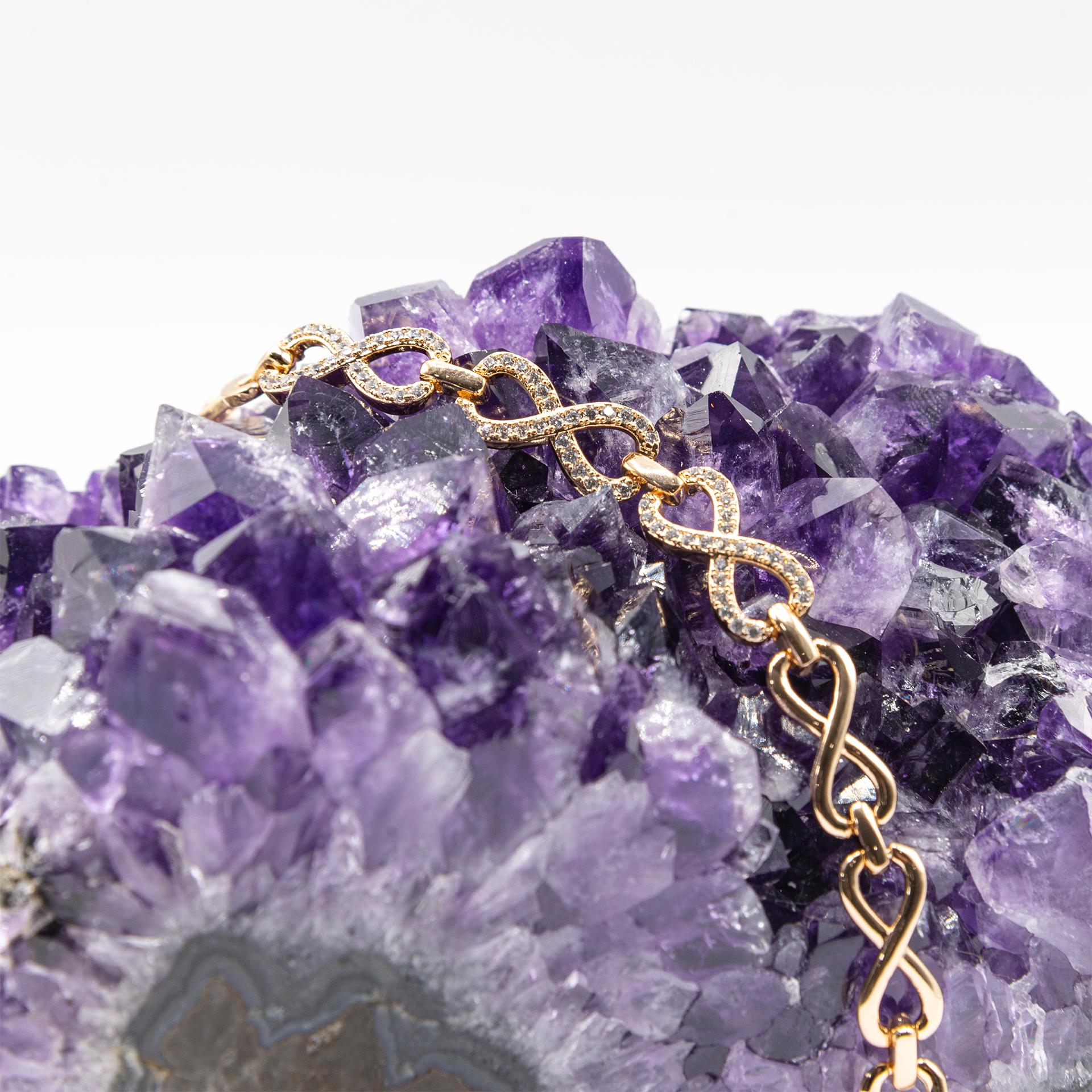 دستبند زنانه ژوپینگ طرح بینهایت کد 206119
