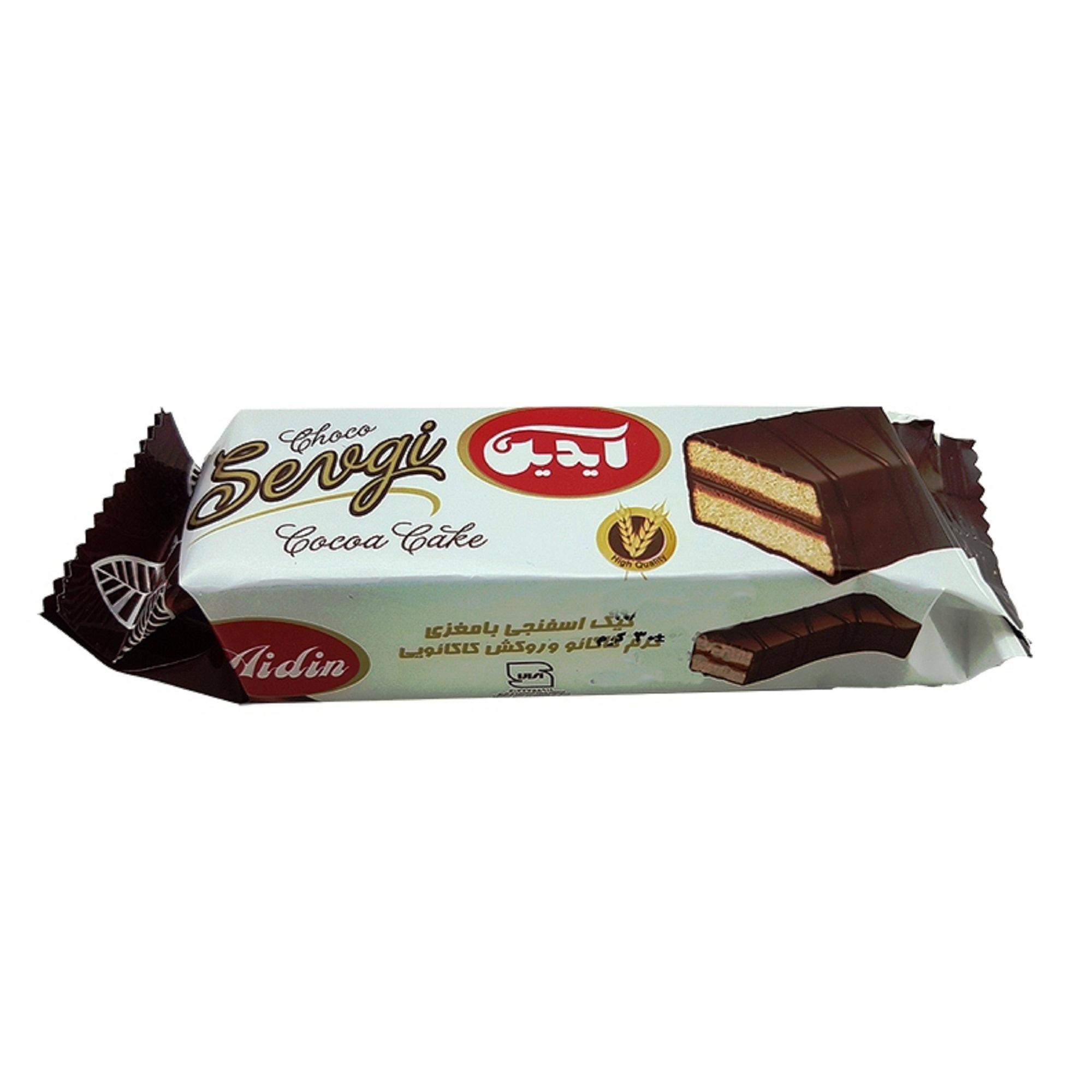 کیک اسفنجی با مغزی کرم کاکائو و روکش کاکائویی آیدین - 30 گرم بسته 12 عددی  main 1 5