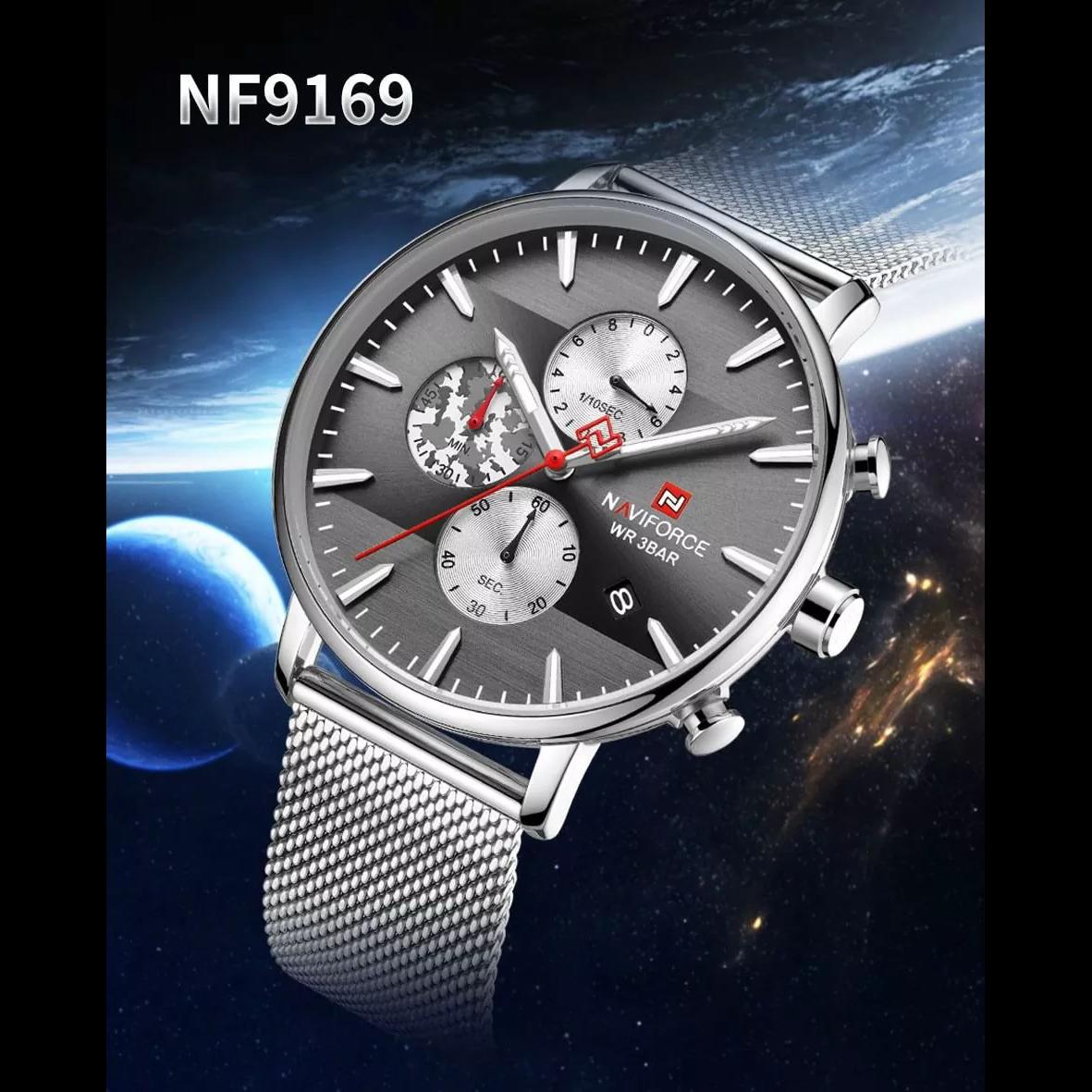ساعت مچی عقربه ای مردانه نیوی فورس کد NF9169M -S-B