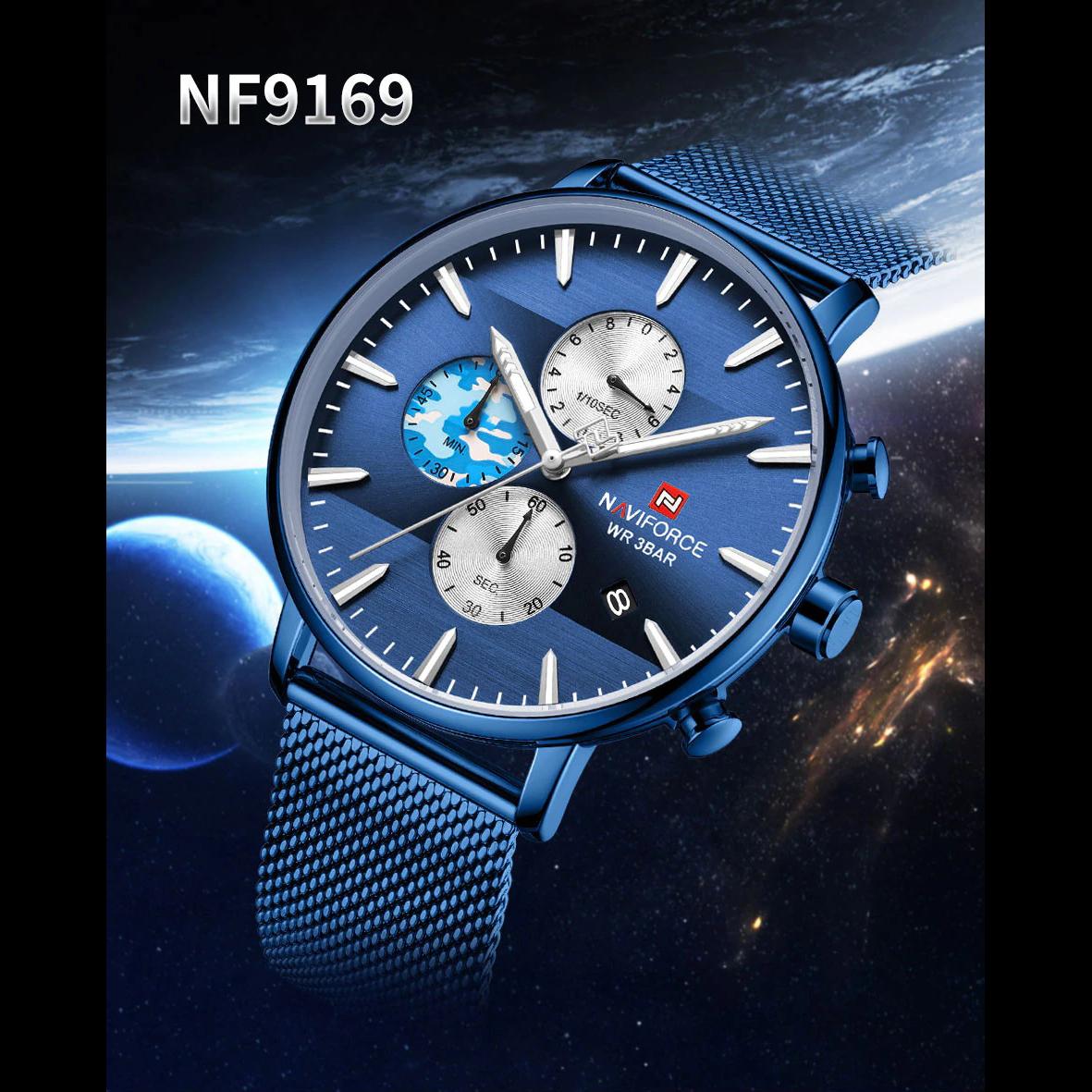 ساعت مچی عقربه ای مردانه نیوی فورس کد NF9169M -BE-BE