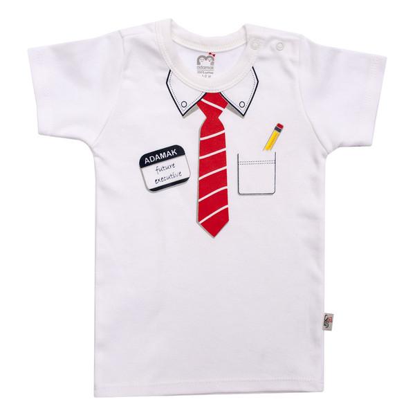 تی شرت آستین کوتاه نوزادی آدمک مدل دیپلمات کد 02