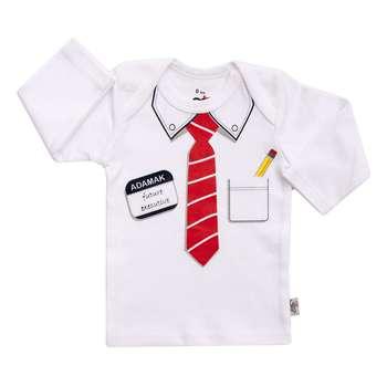 تی شرت آستین بلند نوزادی آدمک مدل دیپلمات کد 01