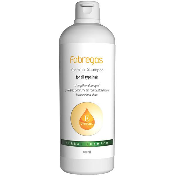 شامپو مو ترمیم کننده فابریگاس مدل Vitamin E حجم 400 میلی لیتر
