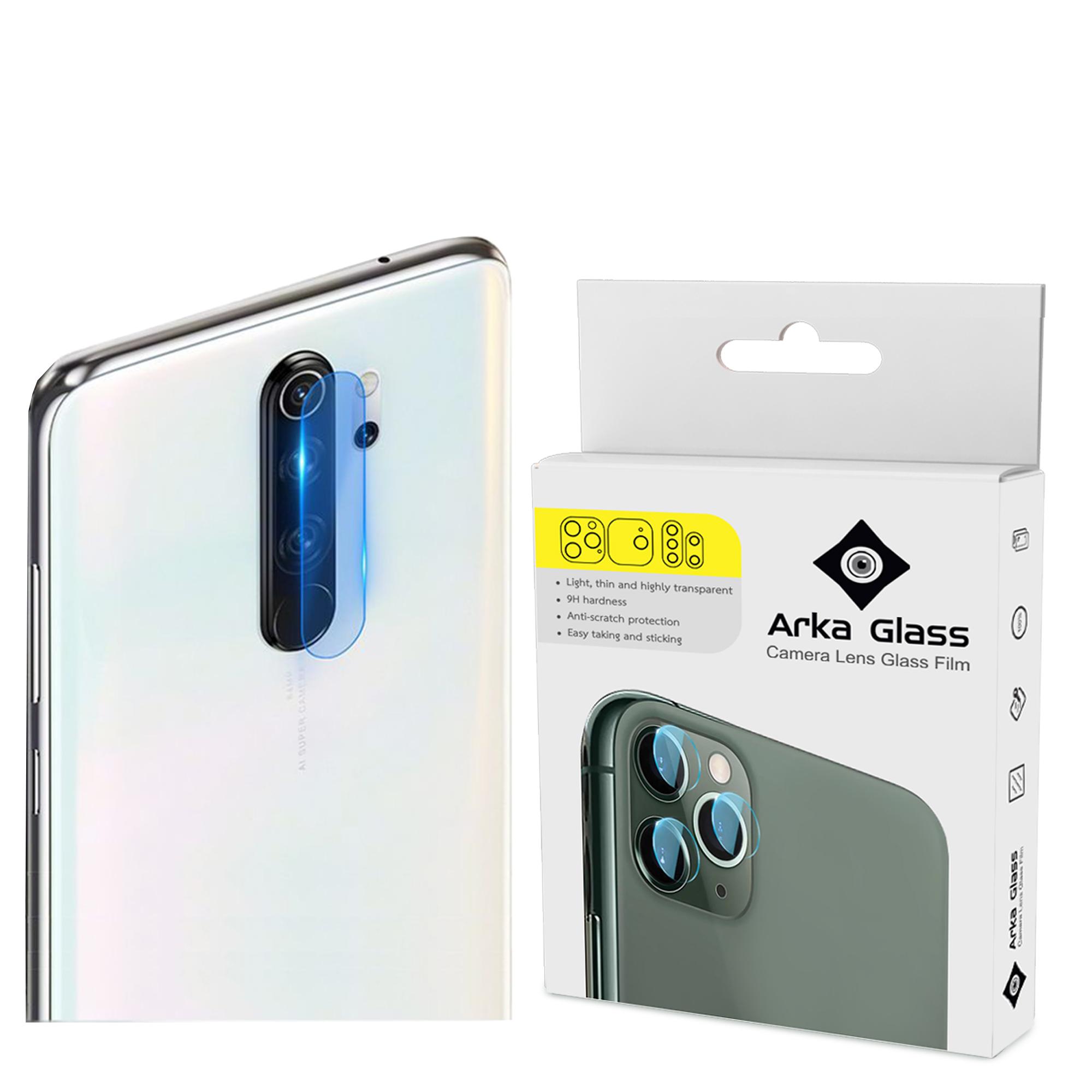 محافظ لنز دوربین آرکا گلس مدل GLA مناسب برای گوشی موبایل شیائومی REDMI NOTE 8 PRO