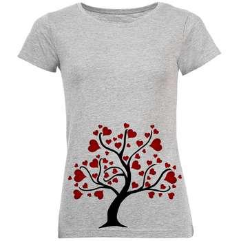 تیشرت زنانه طرح درخت قلب کد R159