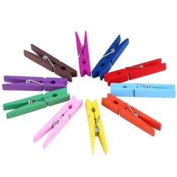 گیره عکس مدل rainbow مجموعه 10 عددی