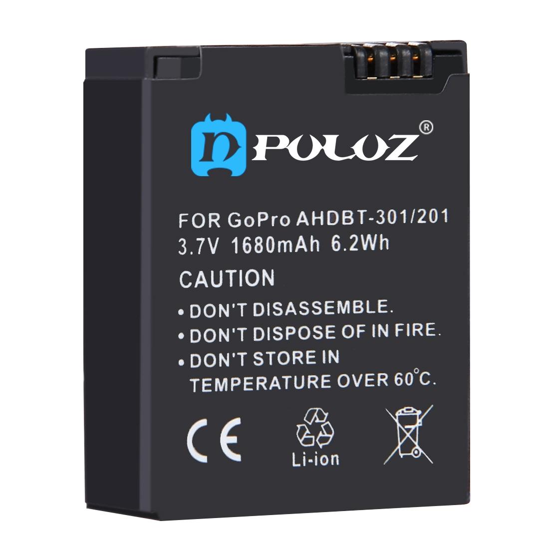 باتری لیتیومی قابل شارژ پلوز مدل PU36 مناسب برای دوربین های ورزشی گوپرو Hero 3