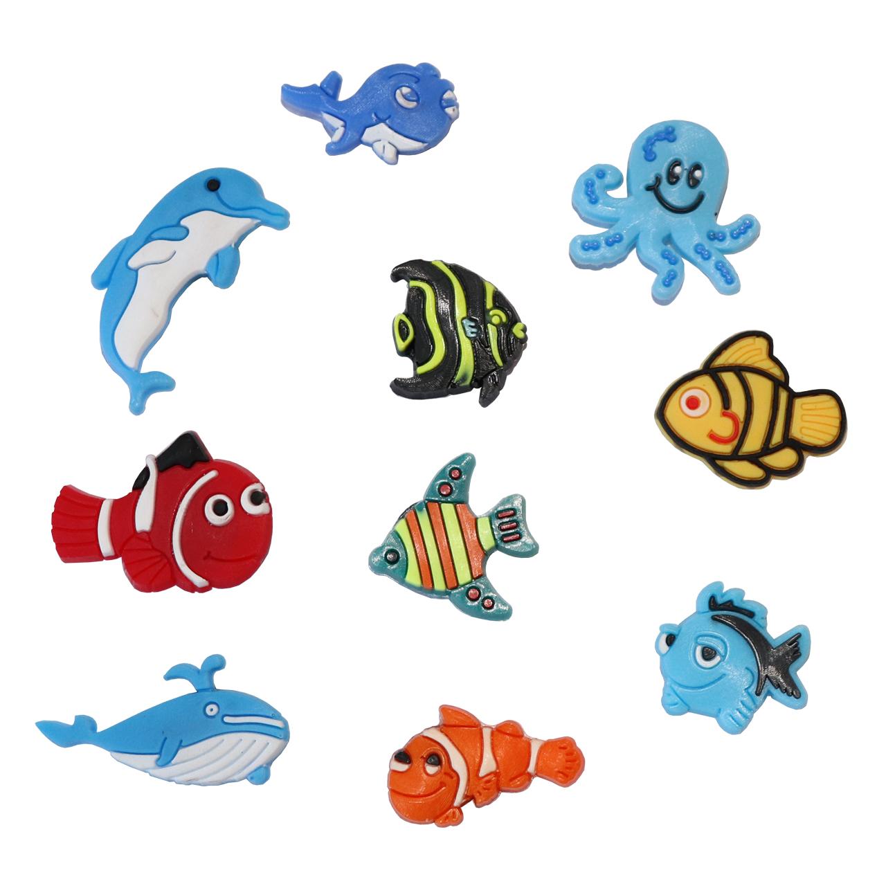 مگنت یخچال مدل fish مجموعه 10 عددی