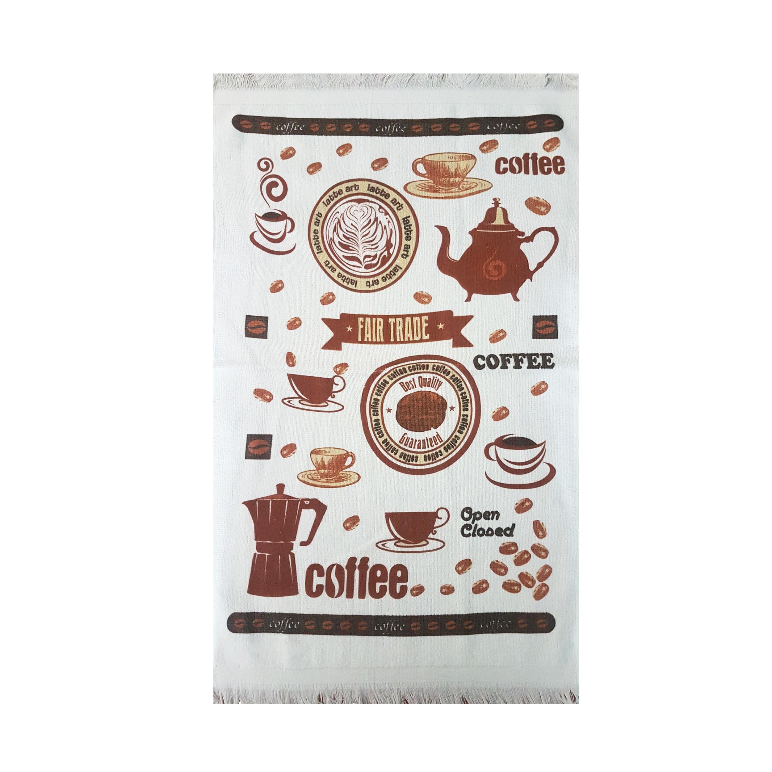حوله آشپزخانه آکیپک مدل Fair Trade سایز 40x60 سانتیمتر