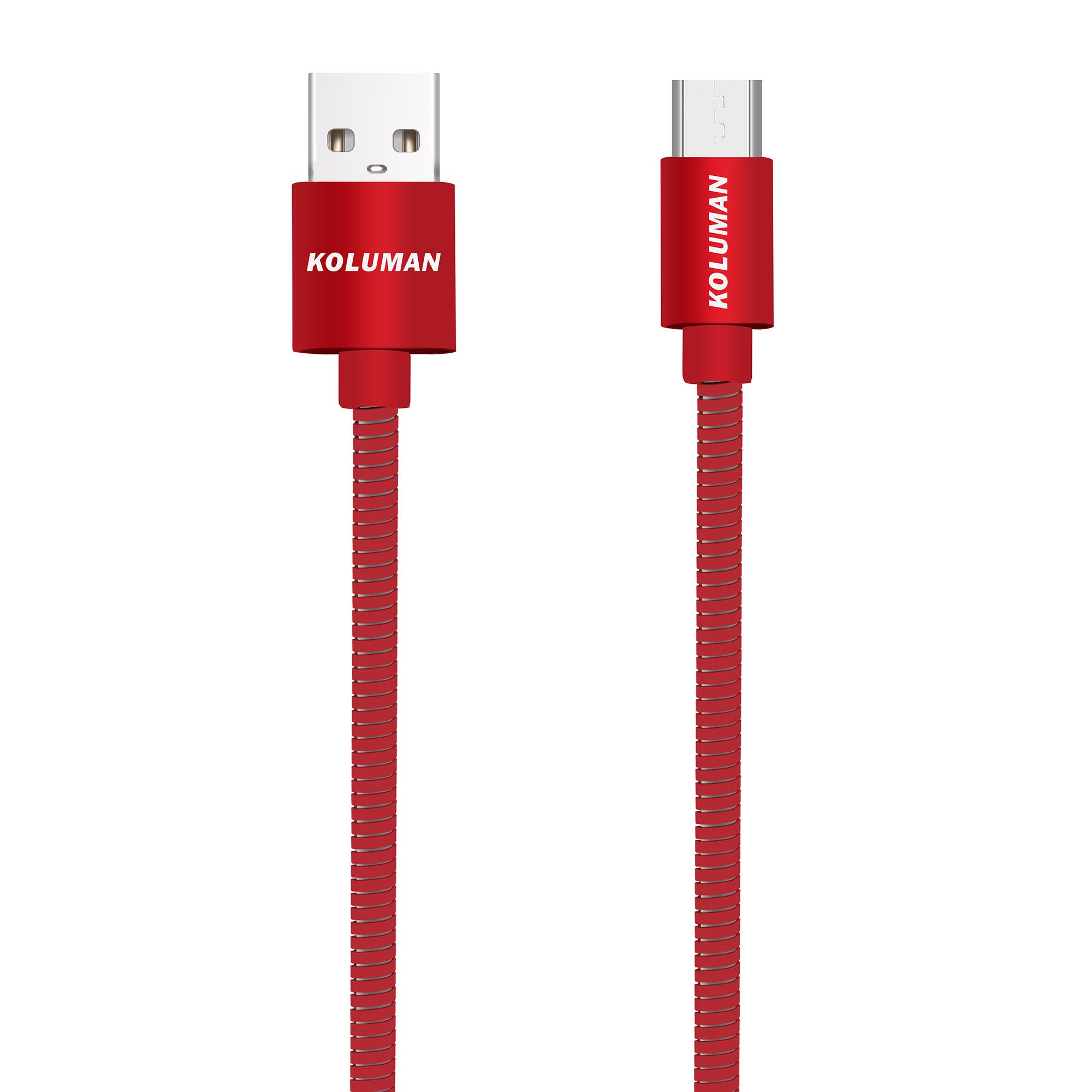 کابل تبدیل USB به microUSB کلومن مدل kd-34 طول 1 متر
